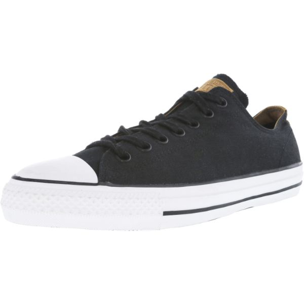Converse Chuck Taylor All Star Pro Ox Black / Rubber Ankle-High Leather Sneakers - Adult Unisex Size 13W / 11M-Daily Steals