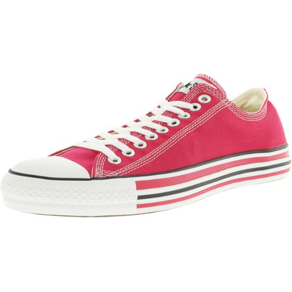 Converse Chuck Taylor Details Oxford Raspberry / White Ankle-High Canvas Sneakers-13W/11M-Daily Steals