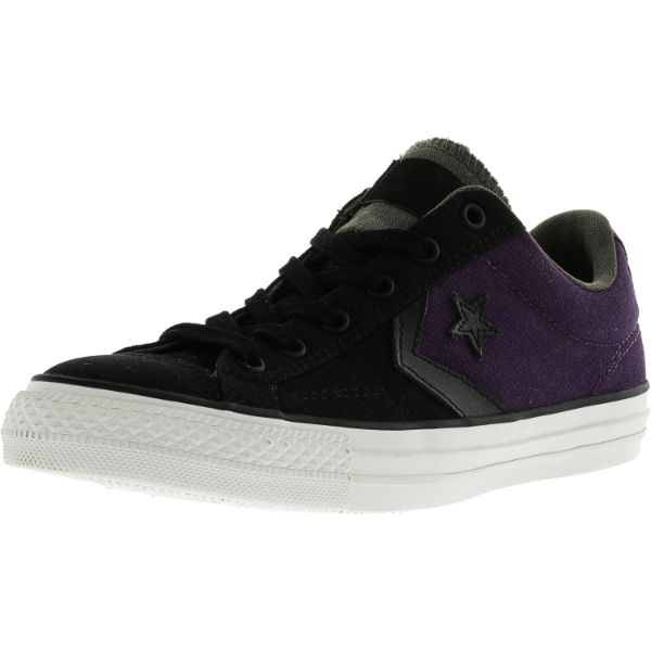 Converse Star Player Ox Black / Elderberry Ankle-High Canvas Sneakers-14W / 12M-Daily Steals