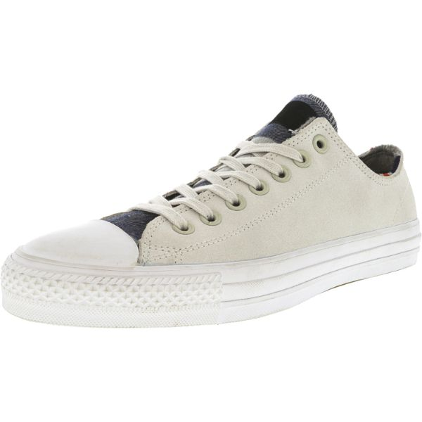 Converse Chuck Taylor All Star Pro Blanket Stripe Ox Buff / Casino White Ankle-High Leather Sneakers-10W/8M-Daily Steals
