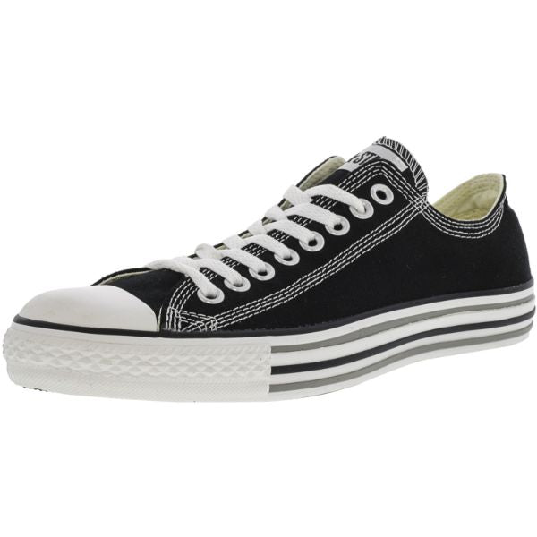 Converse Chuck Taylor Details Oxford Black / White Ankle-High Canvas Sneakers-12W/10M-Daily Steals
