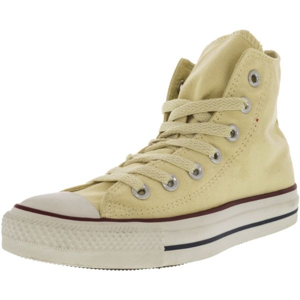 Converse All Star Hi White High-Top Canvas Sneakers - Kids Unisex Size 4.5W / 3.5M-Daily Steals