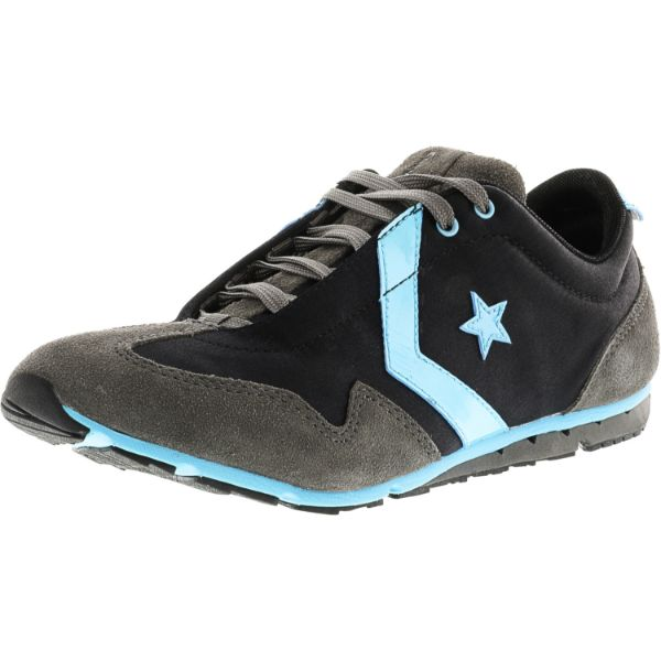Converse Women's Revival Ox Black / Blue Ankle-High Fabric Running Shoes-10M-Daily Steals