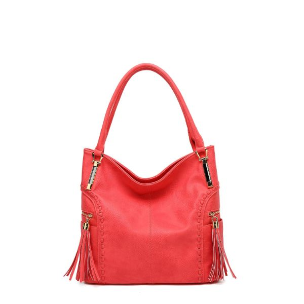 MKF Collection Betsy Shoulder Bag by Mia K. Farrow-Coral-Classic-Daily Steals