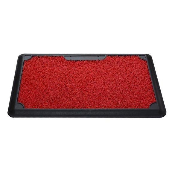 Corona Disinfectant Outdoor Mat with Removable Carpet - 45x70m-RED-