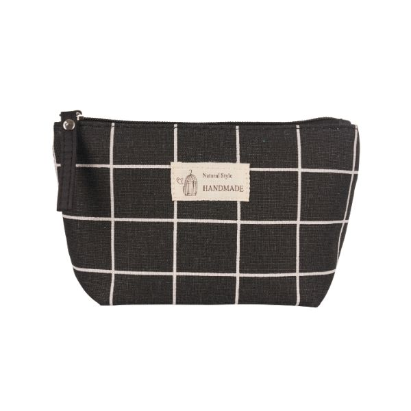 Stylish Pattern Cosmetic Pouch Bag-Black & White Checker-Daily Steals