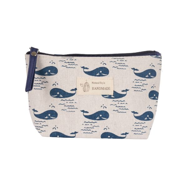 Stylish Pattern Cosmetic Pouch Bag-Blue Whales-Daily Steals