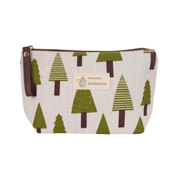 Stylish Pattern Cosmetic Pouch Bag-Green Trees-Daily Steals