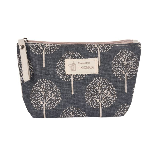 Stylish Pattern Cosmetic Pouch Bag-Grey with White Trees-Daily Steals