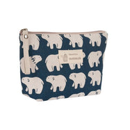 Stylish Pattern Cosmetic Pouch Bag-Blue with Polar Bears-Daily Steals