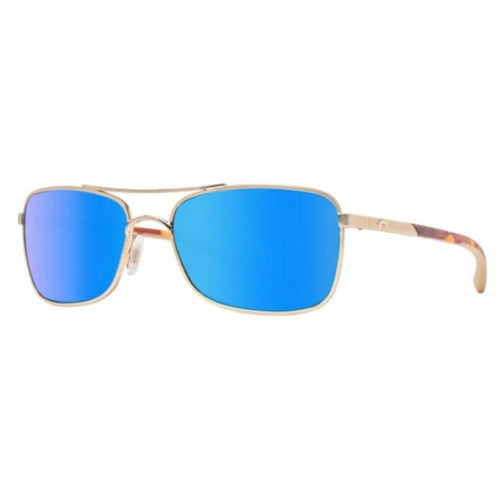 Costa Del Mar Rectangular Unisex Polarized Sunglasses with Blue Lens
