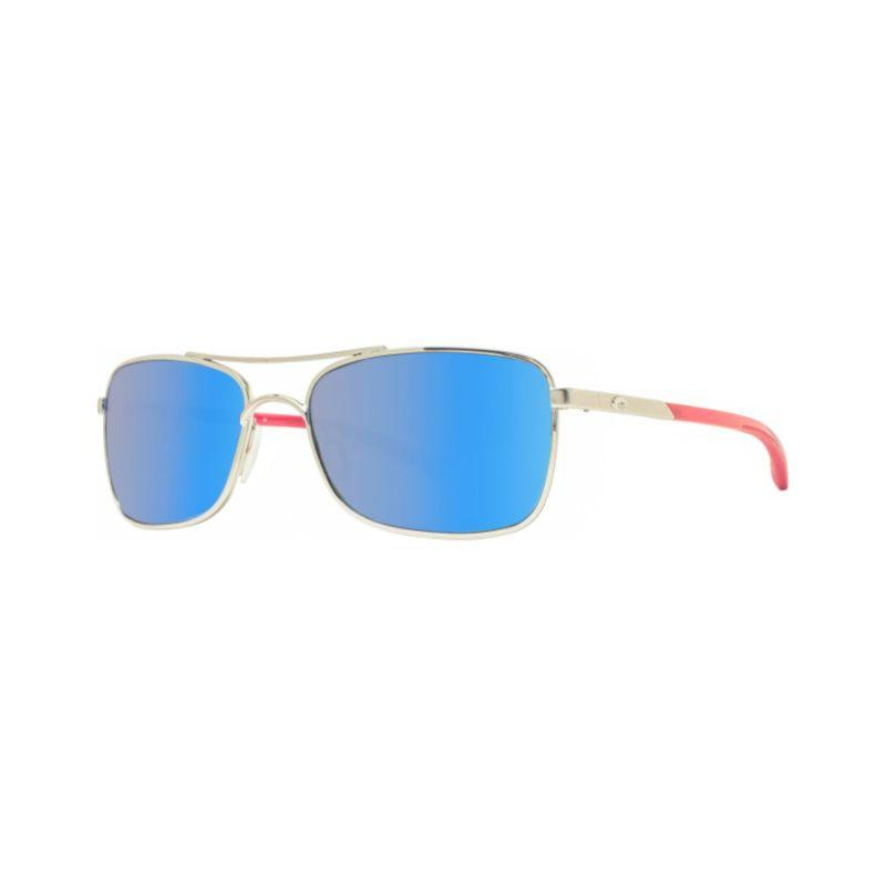 Costa Del Mar Palapa AP83 OBMGLP Palladium/Blue Mirror Polarized Sunglasses-Daily Steals