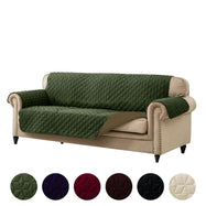 Reversible Quilted Microfiber Furniture Pet Protector Cover-Sage Green/Taupe-Sofa-Daily Steals