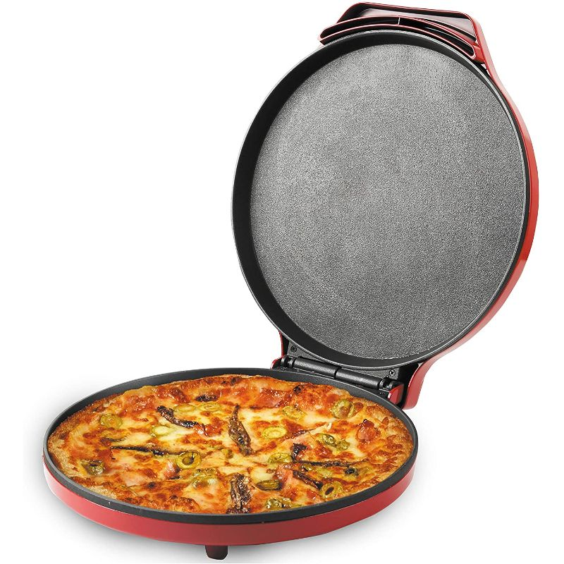 Pizza Maker, 12 Inch Pizza Cooker and Calzone Maker, 1440 Watts Pizza Oven
