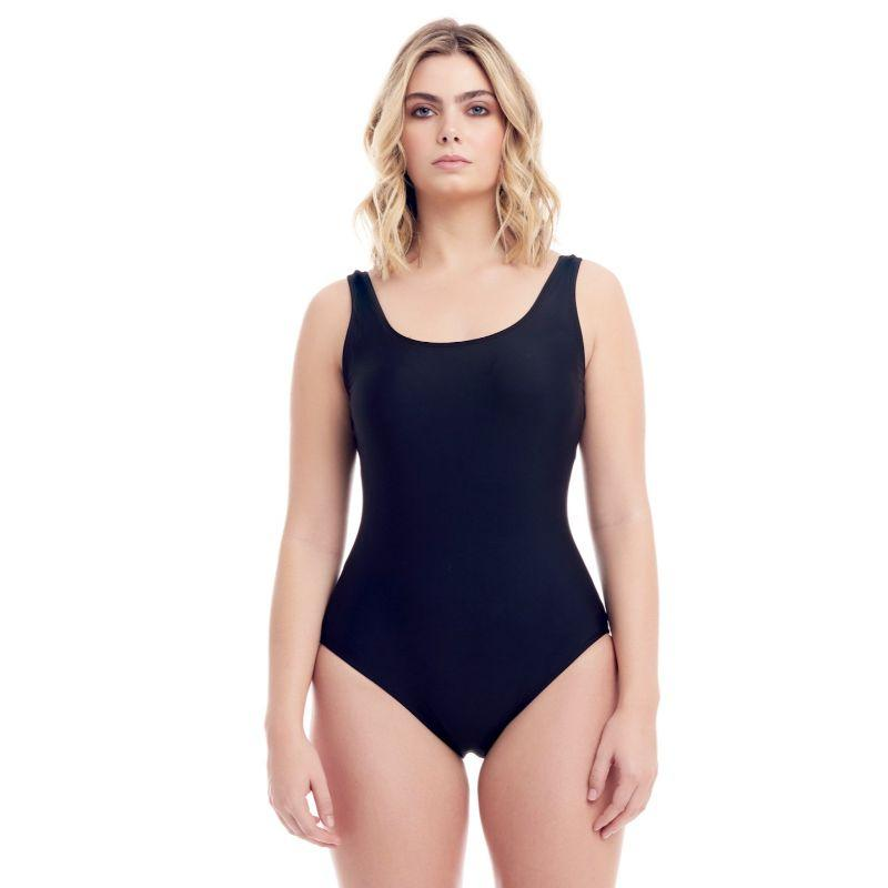 Cover Girl Women's Classic One-Piece Swimsuit-Black-14-