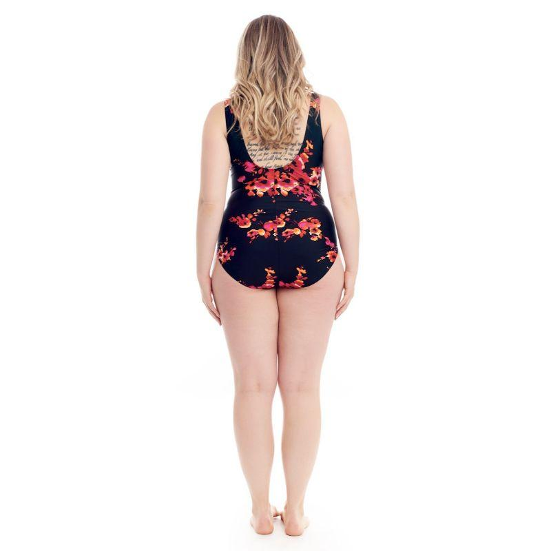 Cover Girl Women's Classic One-Piece Swimsuit-Floral-10-
