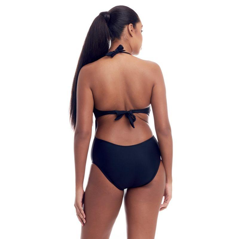 Cover Girl Women's Sohp's Lace-Up design One-Piece Swimsuit-Black-10-