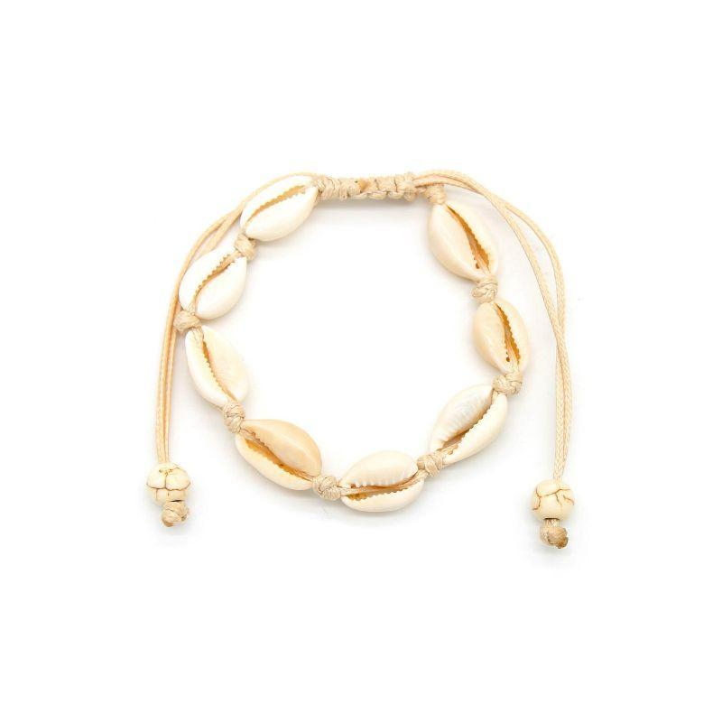 Cowrie Sea Shell Adjustable Bracelet-