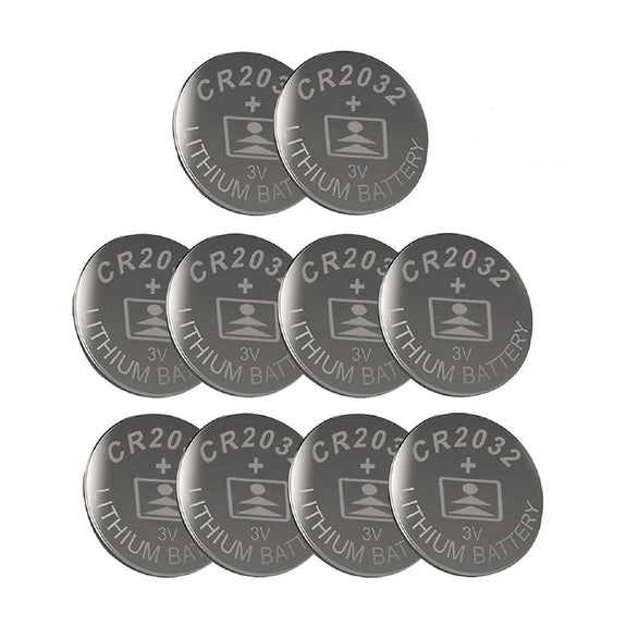 LiCB CR2032 3V Lithium Battery - For Watches, Garage Doors - 10 Pack