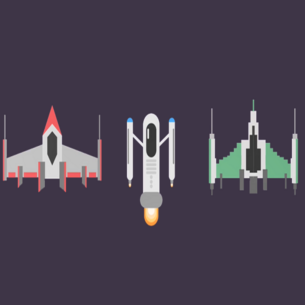 Create Flat Design Spaceships in Adobe Illustrator-