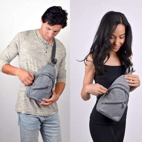 Crossbody Sling Bag Backpack with Adjustable Strap-Charcoal-