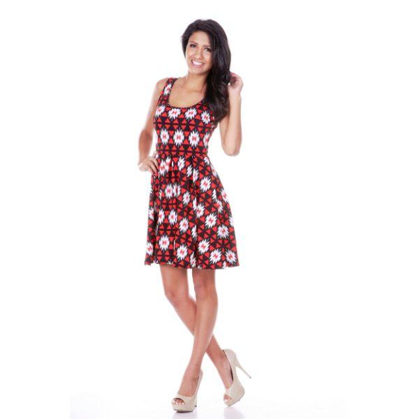 Daily Steals-Crystal Dress-Women's Apparel-Red/Green-M-