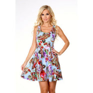 Daily Steals-Crystal Dress-Women's Apparel-Blue Paisley-M-