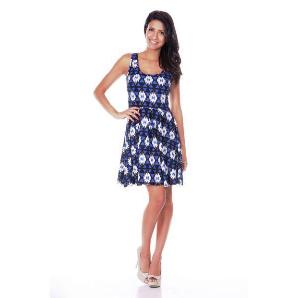 Daily Steals-Crystal Dress-Women's Apparel-Blue/Black-S-