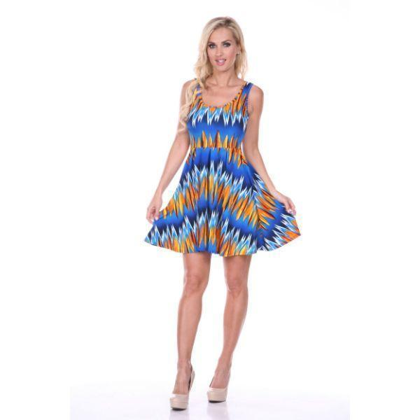 Daily Steals-Crystal Dress-Women's Apparel-Blue/Orange-S-