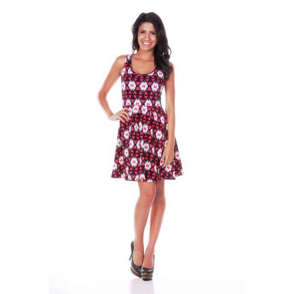 Daily Steals-Crystal Dress-Women's Apparel-Fuchsia/Black-S-