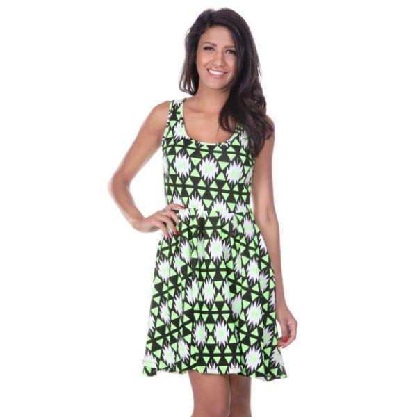 Daily Steals-Crystal Dress-Women's Apparel-Lime/Black-S-