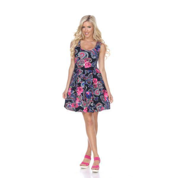 Daily Steals-Crystal Dress-Women's Apparel-Navy/Pink-S-