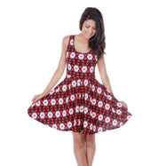 Daily Steals-Crystal Dress-Women's Apparel-Red / Black-S-