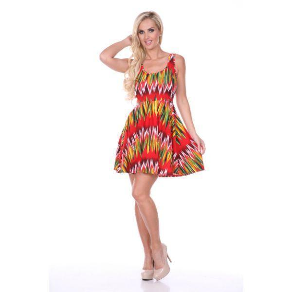 Daily Steals-Crystal Dress-Women's Apparel-Red/Green-S-