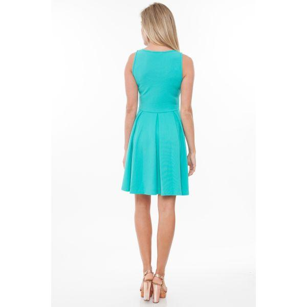 Daily Steals-Crystal' Fit and Flare Dress-Women's Apparel-Royal-L-