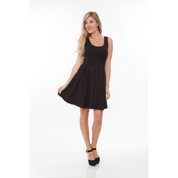 Daily Steals-Crystal' Fit and Flare Dress-Women's Apparel-Black-S-