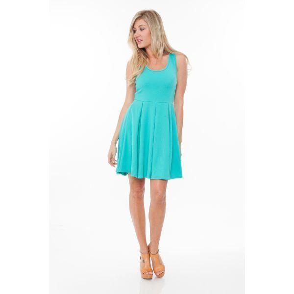 Daily Steals-Crystal 'Fit and Flare Dress-Women's Apparel-Mint-S-