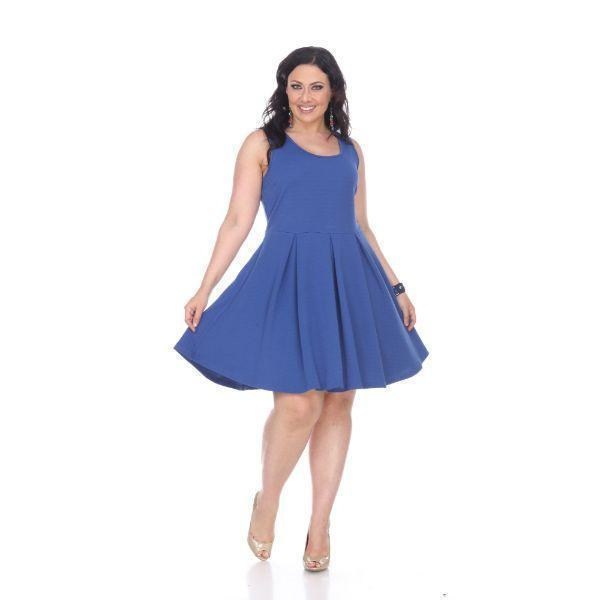 Daily Steals-Crystal' Fit and Flare Dress-Women's Apparel-Royal-2XL-