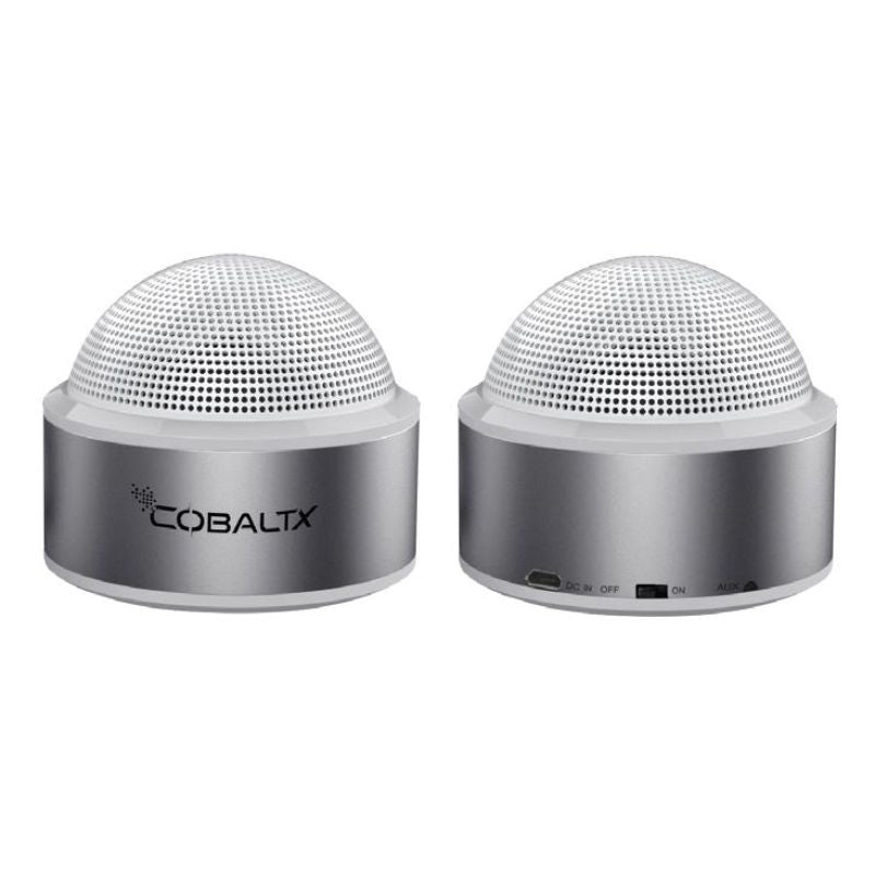 CobaltX Sound Dome Mini Portable Bluetooth Speakers - Set of 2