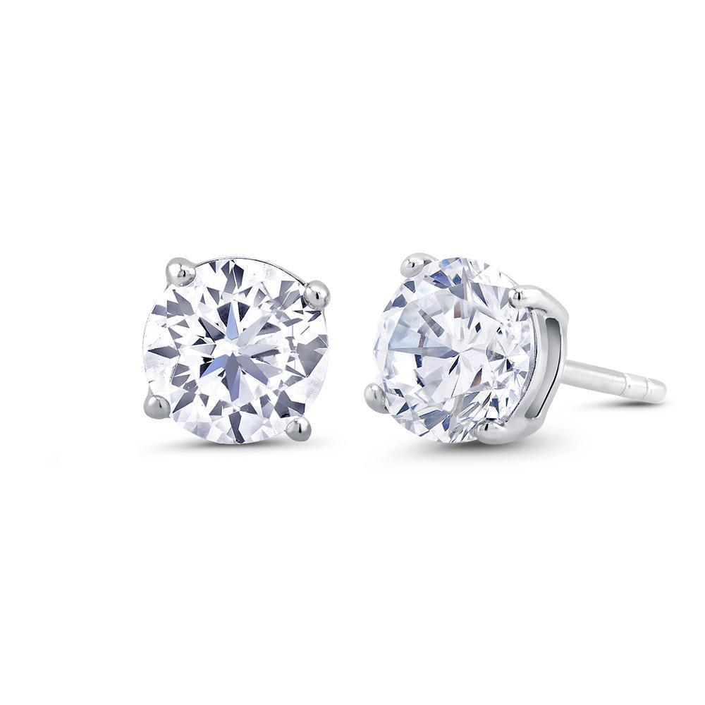 Daily Steals-Cubic Zirconia Round Stud Earrings-Jewelry-