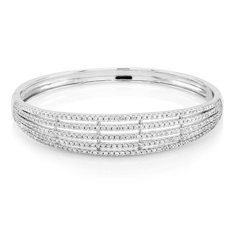 Daily Steals-Cubic Zirconia Stones Elegant Comfort Fit Bangle-Jewelry-