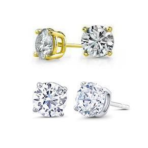 Daily Steals-Cubic Zirconia Stud Earrings - Set of Two Styles-Jewelry-