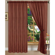 Linda Sheer Voile Curtain Panels - Various Colors - 4-Pack-BRICK-Daily Steals