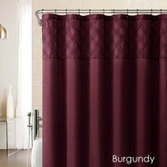 Set of Faux Silk Pearls Bathroom Curtains - 6 Colors Available-Beige-Daily Steals