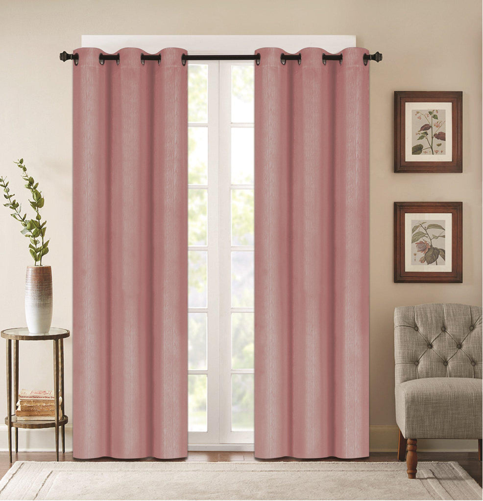 "Denver Embossed Curtain Panels – Set of Two (38"" x 84"")-Blush-Daily Steals"