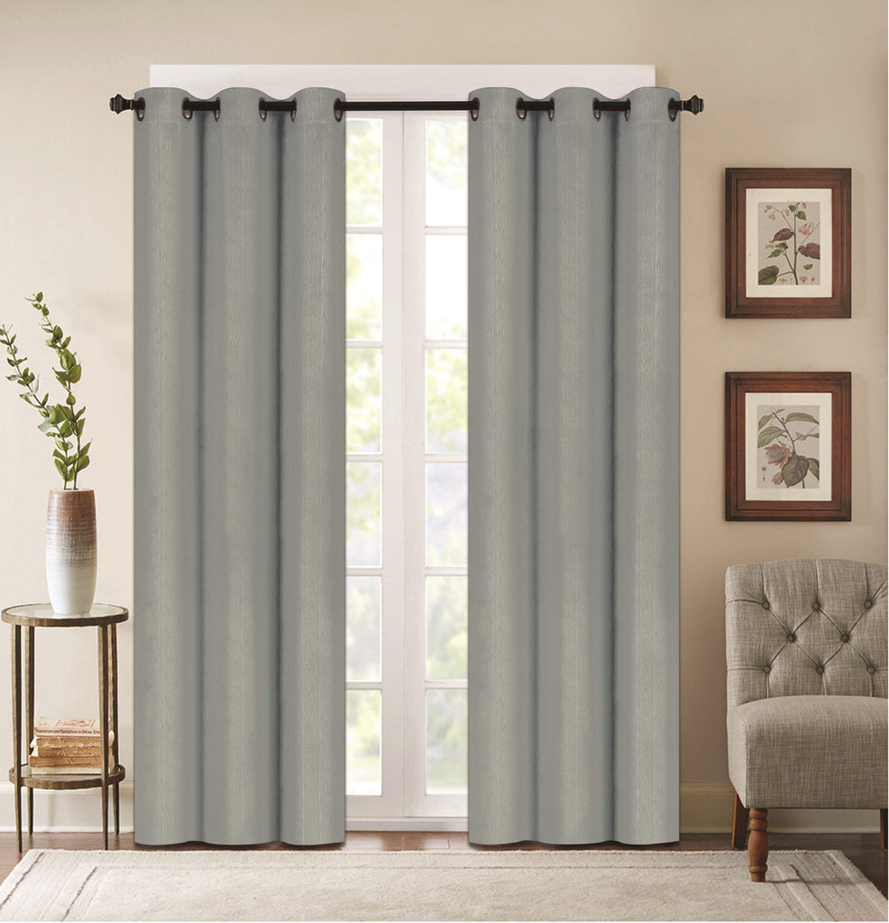 "Denver Embossed Curtain Panels – Set of Two (38"" x 84"")-Light Grey-Daily Steals"