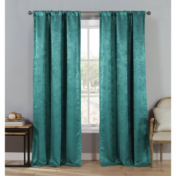 "Triple Layered Woven 84"" Blackout Curtains - 4 Pack-Slate Blue-Daily Steals"