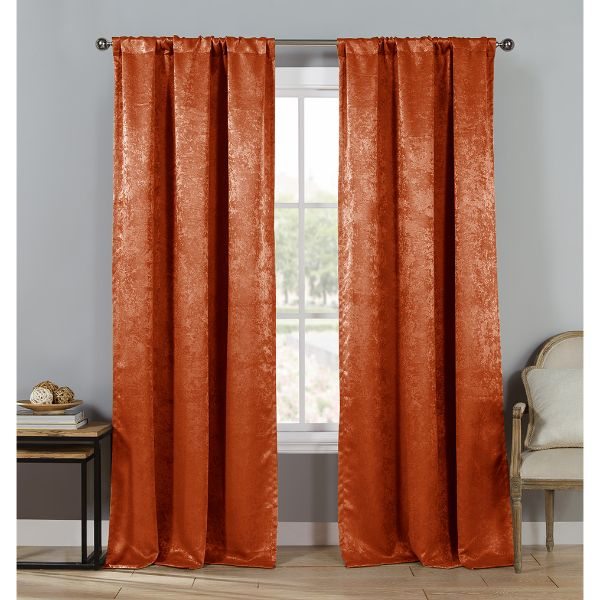 "Triple Layered Woven 84"" Blackout Curtains - 4 Pack-Spice-Daily Steals"