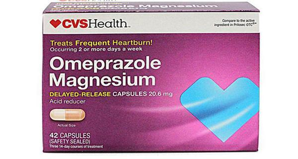 Daily Steals-CVS Health Omeprazole Magnesium Acid Reducer 20.6 mg Delayed Release Capsules – 42 Count-Health and Beauty-
