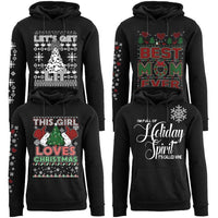 Women's Funny Christmas Pull Over Hoodie-Daily Steals